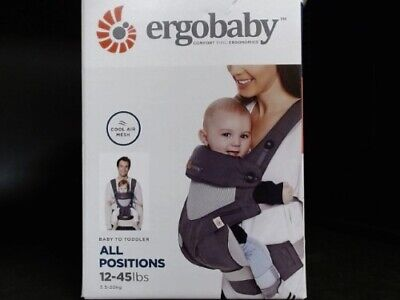 Ergo Baby 4-Position 360 Carrier Cool Air w/ Infant Insert - Carbon Grey
