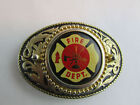 Unbranded Brass Belt Buckles Fire Department for Men