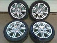 """Genuine Original Set of BMW 17"""" 320d M Sports 17"""" Alloys"""