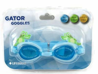 6e423eeefab Kids Blue GATOR Goggles by Lifeguard Adjustable Strap New
