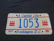 Washington DC License Plate