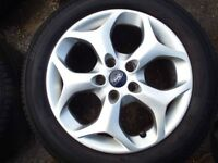 ford c max alloy wheel with tyre in good condition will fit other models 16''