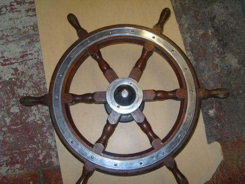 Antique Ships Wheel Ebay