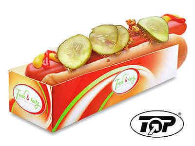500 Hotdog Schachteln Hot Dog Trays Hot Dog to go Verpackungen Pappe bedruckt