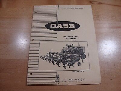 Case 914 916 Series Cultivator Parts Catalog Manual 1966 A853