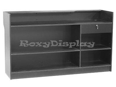 Register Black Stand Display Case Store Fixture Wood Knocked Down Ltc6bk