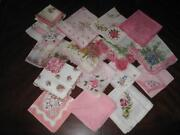 Lot Vintage Embroidered Hankies