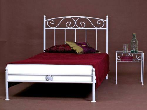 metallbett 120x200 ebay. Black Bedroom Furniture Sets. Home Design Ideas