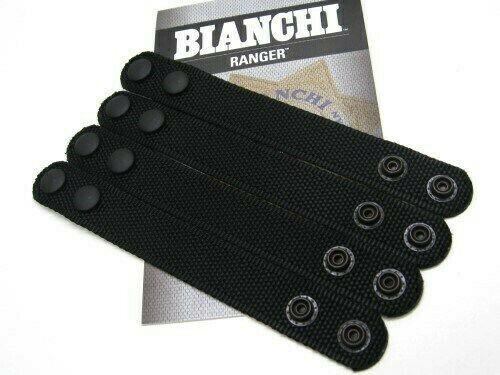 "Bianchi 31304 Black 8006 Patrol Tek 1"" Dual Snap Belt Keeper Pack Of 4"