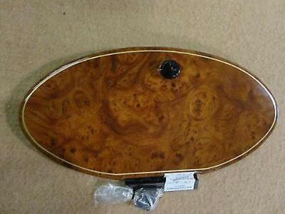 Seaswirl boat glove box door storage cover burl wood finish