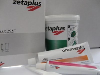 New Pack Zhermack Zetaplus Putty C-silicone Impression Material Intro Kit