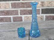 L E Smith Glass Blue
