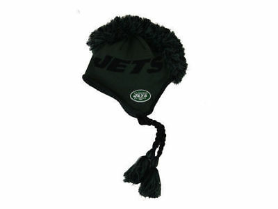 New York Jets Youth NFL Tassel Knit Mohawk Winter Hat Size 8-20