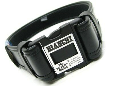 "BIANCHI Medium 34""-40"" Waist Black 7950 ACCUMOLD ELITE Duty Belt New! 22124"