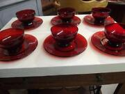 Red Glass Plates