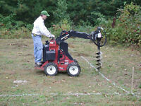 FENCE POST HOLE DIGGING / FENCE BUILDING