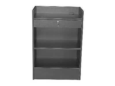 Cash Register Black Stand Top Shelf Display Store Fixture Knocked Down Sc-scr-cb