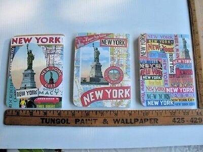 Lot Of 3 New York Statue Of Liberty Memo Books