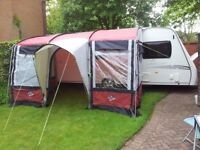 AWNING SUNNCAMP ENCORE/MIRA 390 PORCH USED ONCE COLLECTION OR MOTORWAY MEET ETC