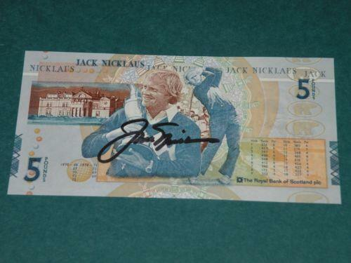 Jack Nicklaus 5 Pound Note Ebay
