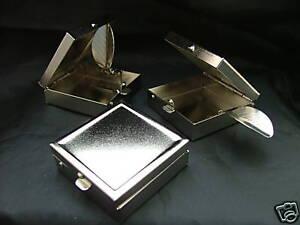 Portable Travel Pocket Ashtray Square Metal Cigarette Mini Handbag Purse Small