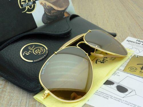 ray ban general 50 gold
