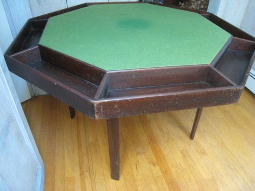 vintage poker table ebay. Black Bedroom Furniture Sets. Home Design Ideas