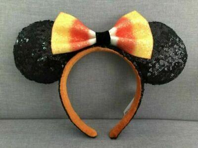 Halloween Candy 2019 (Disney Parks Halloween Candy Corn Minnie Ears With Bow Headband)