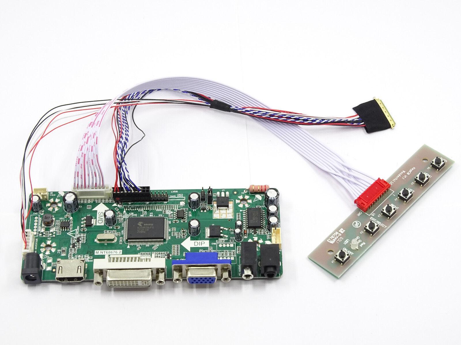 LCD LED Controller Board Driver kit for LTN154CT02 HDMI + DVI + VGA M.NT68676