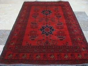 Afghan Khal Muhamadi Excellent Designed Rectangle Area Rug Hand Knotted Wool Carpet (5.4 x 3.4)'