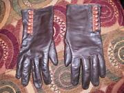 Leather Cashmere Gloves