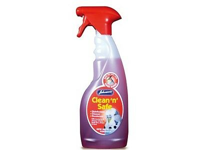 Johnson's Clean 'n' Safe Disinfectant Cleaner Deodorant Cage Birds &Pigeon spray