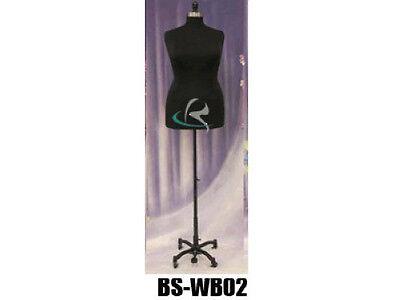 Female Plus Size 18-20 Mannequin Manequin Manikin Dress Form F1820bkbs-wb02t