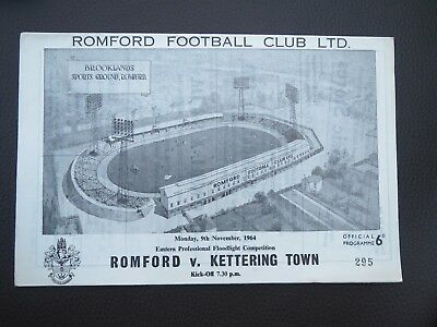 Romford V Kettering Floodlight Comp  1964/5