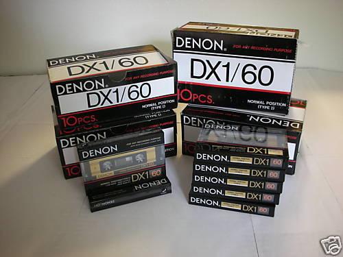 50 Denon Audio Cassette Tape Lot  New Made in Japan