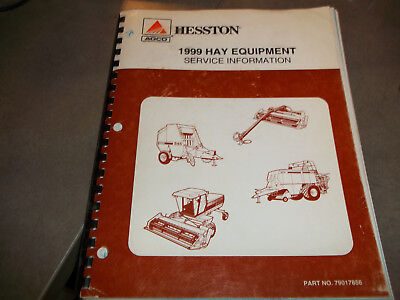 Hesston 1999 Hay Equipment Service Information Manual