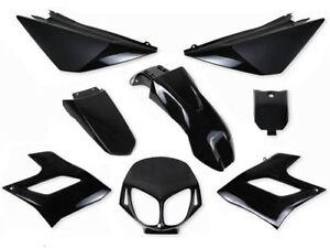 Kit 8 fairings Derbi Senda DRD Racing Fairing plastics (2004-2010) BLACK
