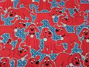 Clifford The Big Red Dog Fabric