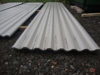 brand new 18ft long grey polyester coated box profile roofing sheets