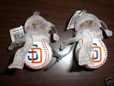 2~ San Diego Padres Mini Baseball Christmas Ornament Mini Baseball Ornament