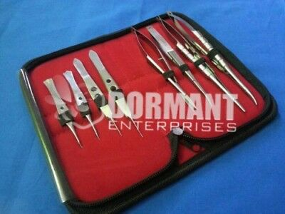 O.r Grade Basic Micro Surgical Eye Veterinary Surgery Instruments Kit 8 Pcs Set
