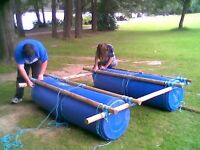 Wanted plastic barrels, wood and rope to build rafts with the local scout group