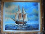 Ölbild Segelschiff