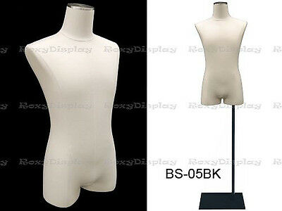 Male Body Form With Linen White Jesery Cover M1wl-jfbs-05bk