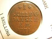 1 Skilling 1771 Denmark