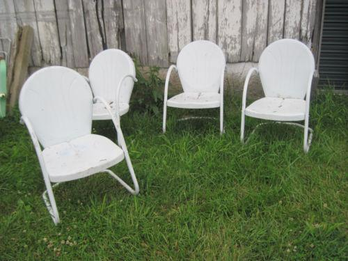 Vintage metal lawn chairs ebay Vintage metal garden furniture