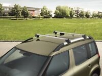 SKODA YETI ROOF BARS GENUINE BOXED AS NEW COMPLEATE WITH KEYS/STUDS