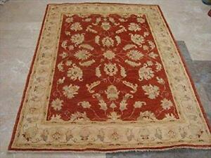 Exclusive Chobi Zeiglar Rectangle Rug Veg Dyed Ghazni Wool Hand Knotted Carpet (6.5 x 4.11)'