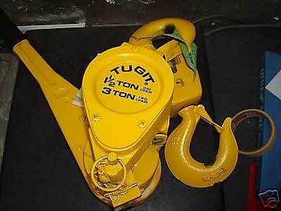 Tugit Convertible Puller Hoist - 1 12 Ton Through 3 Ton Cap. 5 Lift