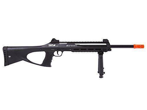 Tac-6 CO2 Semi-Auto Airsoft Sniper Rifle BB Gun w/ High Quality Bipod & Laser